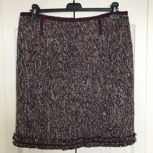 Talbots boucle pencil skirt